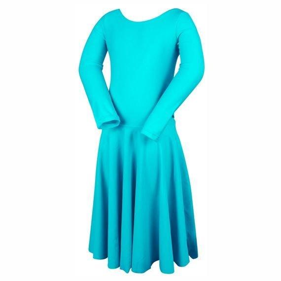 40c725cc Turniejowa sukienka taneczna dla dziewczynki PIERWSZY KROK turkusowa