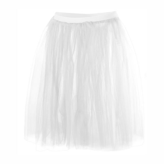 Romantic Tulle skirt 4 layers - white