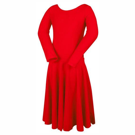 8d6aee14 Turniejowa sukienka taneczna dla dziewczynki PIERWSZY KROK czerwona