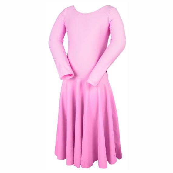 bf37c0f33f ... Turniejowa sukienka taneczna dla dziewczynki PIERWSZY KROK różowy ...